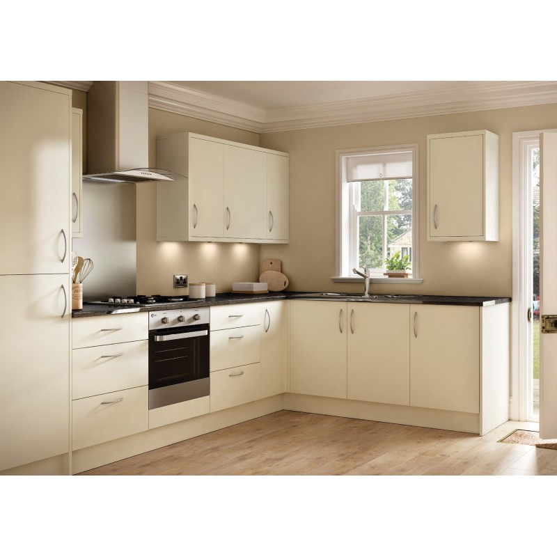 Cream Kitchen Doors: Ballina Matt Cream Slab Door Kitchen