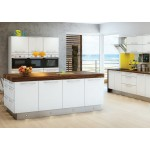 Colorado Matt White Slab Door Kitchen