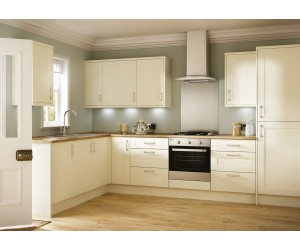 Emly Matt Cream Shaker Door Kitchen