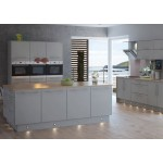 Misa Matt Light Grey Slab Door Kitchen