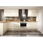 Clonmel Gloss Cream Slab Door Kitchen
