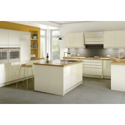 Capri Cream High Gloss Handless