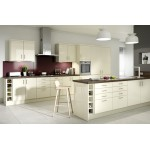 Paris Cream High Gloss inc Bar Handle