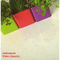 Spectra Andromeda White Quartz Spark Laminate Work Surface