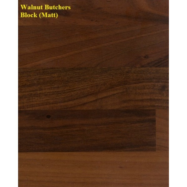 Spectra Walnut Butcher Block (Matt) Laminate Worktop