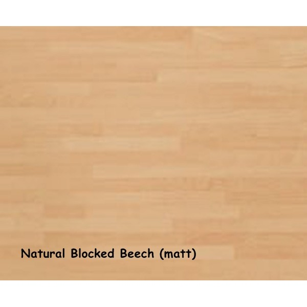 Natural Blocked Beech (Matt) Laminate Worktop