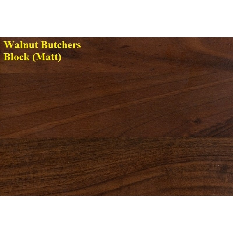 Walnut Butchers Block Satin Laminate Worktop