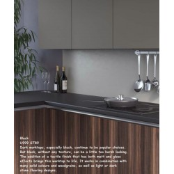 Black U999 ST89 Contemporary Worktop