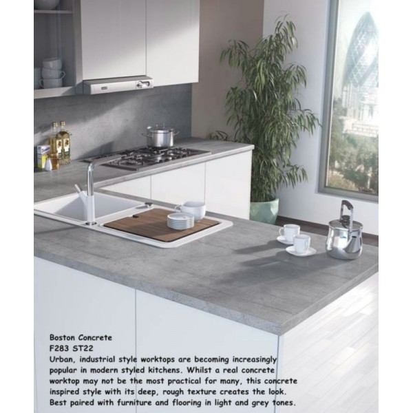 Boston Concrete F283 ST22 Contemporary Worktop