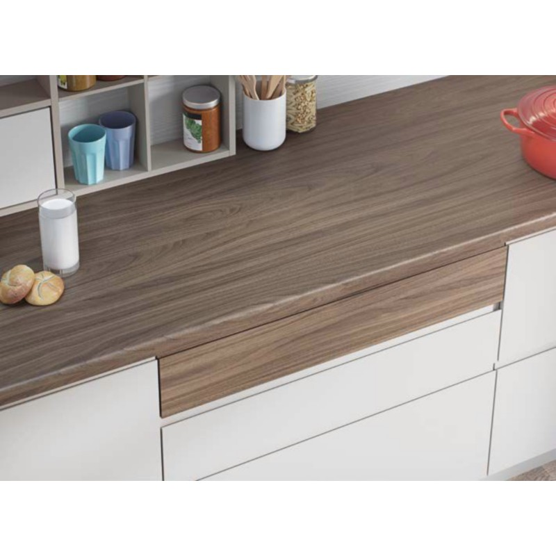 Natural Carini Walnut H3710 St9 Contemporary Worktop