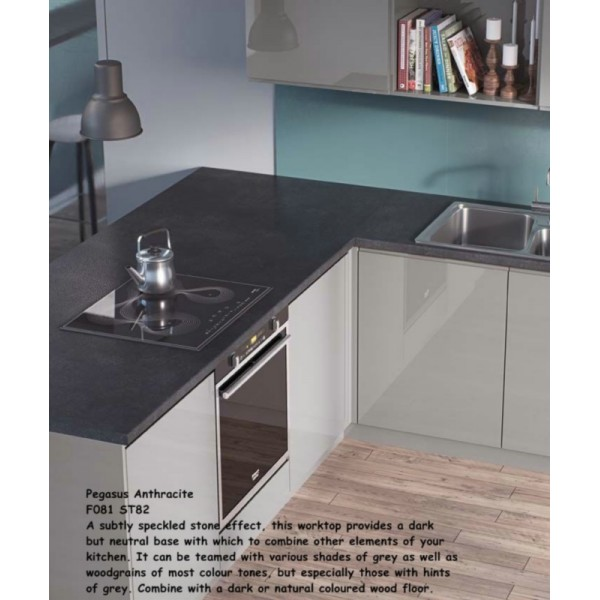 Pegasus Anthracite F081 St82 Contemporary Worktop