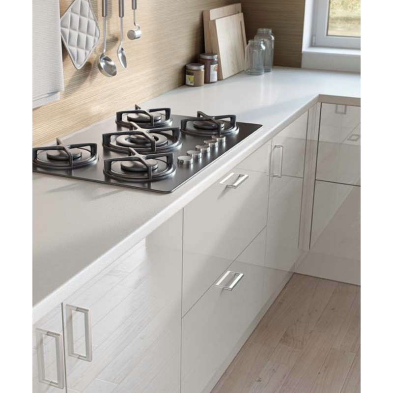 White Laminate Kitchen Worktops: Premium White W1000 ST89 Contemporary Worktop
