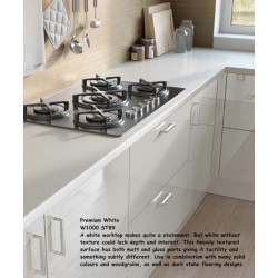 Premium White W1000 ST89 Contemporary  Worktop