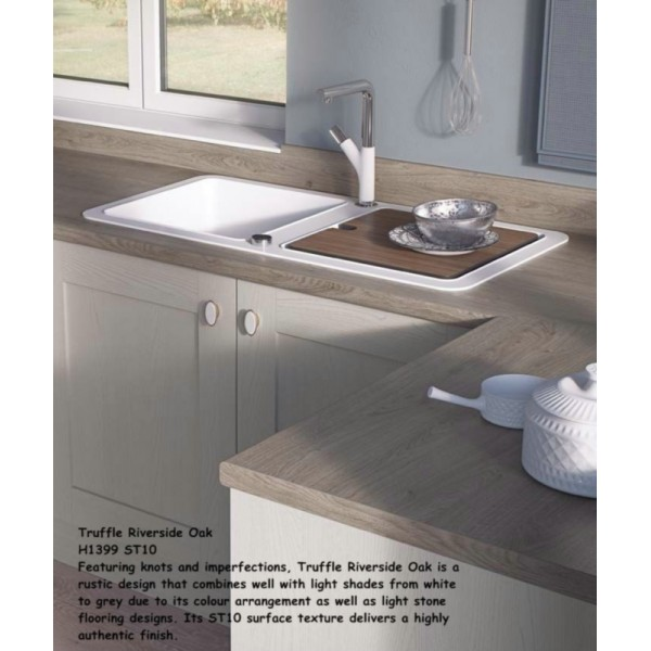 Truffle Riverside Oak H1399 ST10 Contemporary Worktop