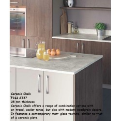 Ceramic Chalk F312 ST87 Premium Square Edge Worktop 25mm