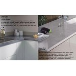 Pegasus White F080 ST82 Premium Square Edge Worktop 25mm
