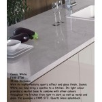 Cosmic White F180 ST30 High Gloss Premium Square Edge Worktop 38mm