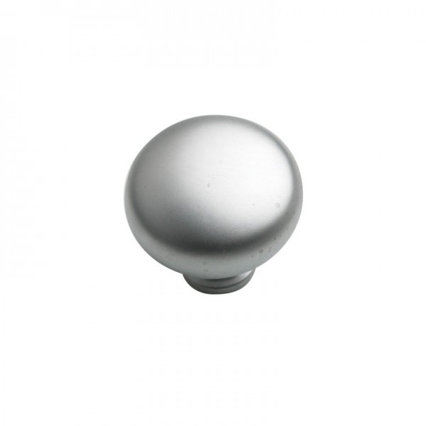 Round Knob in Satin Nickel