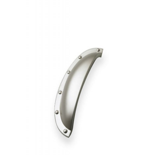 Shell Cup Handle in Satin Nickel
