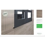 Openhouse Bordeaux Handless Elm Horizontal Woodgrain Kitchen