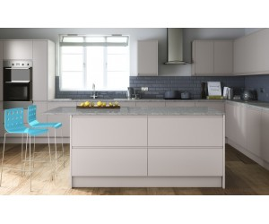 Openhouse J-Profile Normandy Warm Grey High Gloss Handless Kitchen