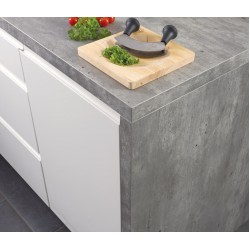 Spectra Grey Shuttered Concrete Stone Square Edge Worktop