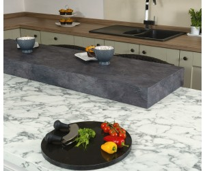 Spectra Carrera Marble Matt Square Edge Worktop